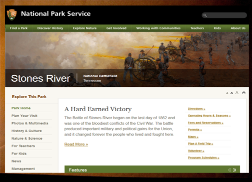 NPS Stono River website