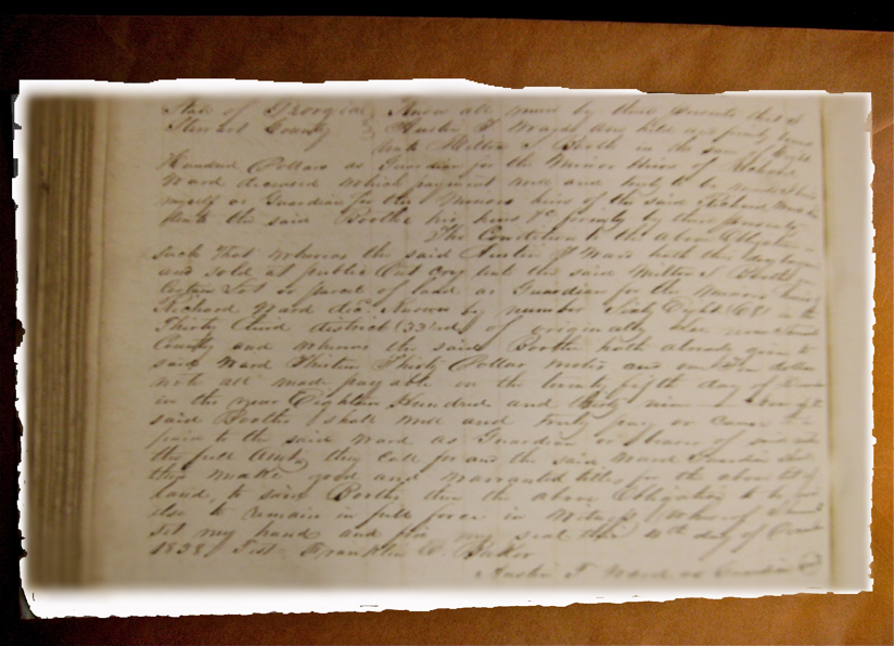 Extract of 1837 bond for title
