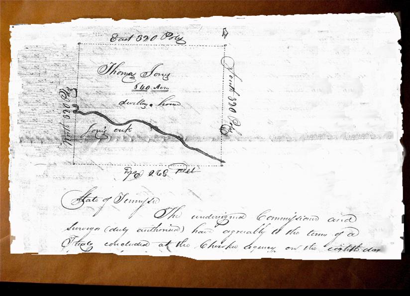 1820 Cherokee reservation for Thomas Jones