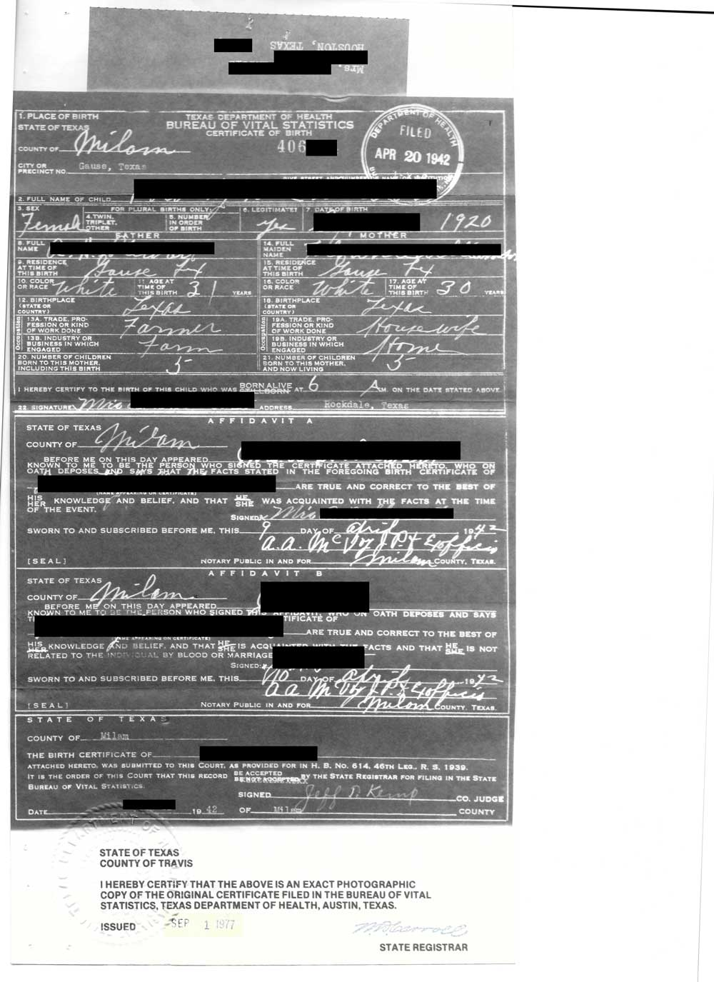 Evidence explained multi layered birth certificate bc redacted 1920g xflitez Images