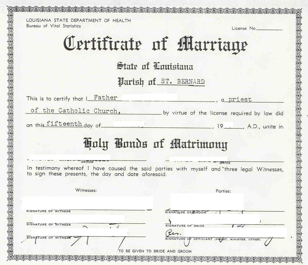 Evidence Explained Parish Level Certificate Of Marriage From The