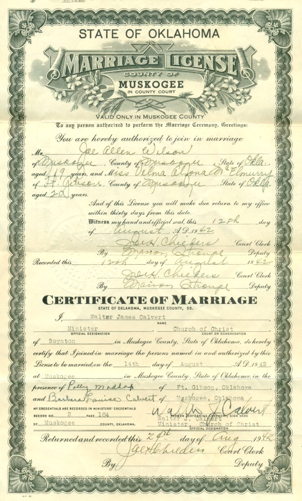 Evidence Explained | Marriage License And Certificate On Same Document