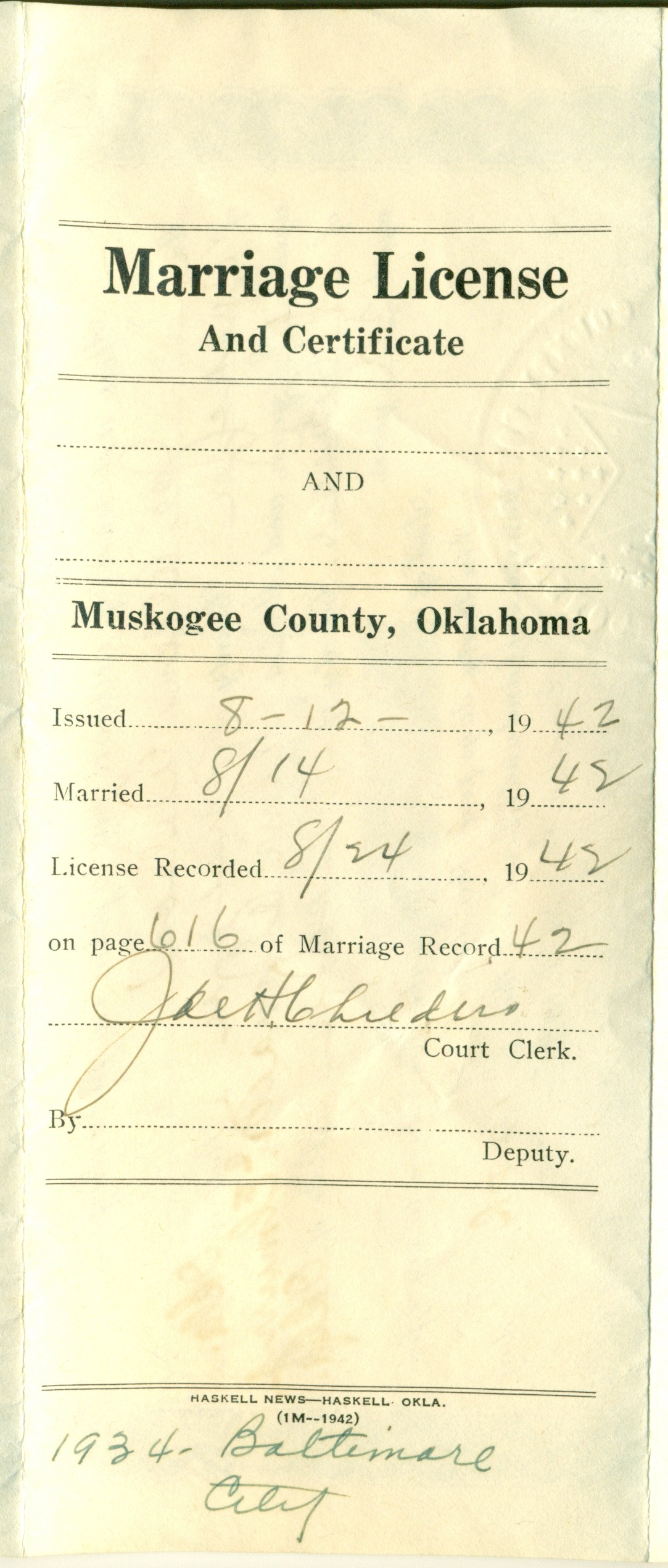 Evidence explained marriage license and certificate on same document scan0013g xflitez Images